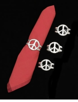 Arthur Court Designs Peace Napkin Rings (Set of 4)