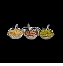Arthur Court Grape 3-Bowl Condiment Server Set