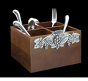 Arthur Court Grape Flatware Caddy-Vertical