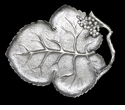 "Arthur Court Grape Leaf 16"" Platter"