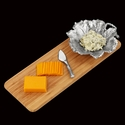 Arthur Court Grape Leaf Bamboo Cheese Set