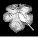 Arthur Court Grape Leaf Plate with Knife