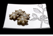 """Arthur Court Holly 12"""" Square Tray"""