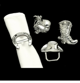 Arthur Court Western Napkin Rings-Set of 4