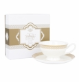 Ashdene Bone China Teacup & Saucer - Ivory - Madame Butterfly Tea Party