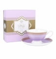 Ashdene Bone China Teacup & Saucer - Lavender - Madame Butterfly Tea Party
