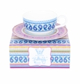 Ashdene Bone China Teacup & Saucer  - Madame Butterfly Boho