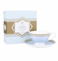 Ashdene Bone China Teacup & Saucer - Sky - Madame Butterfly Tea Party