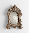 Avalon Rustic Silver Mirror by Cyan Design