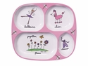 Baby Cie Ballerina Melamine Child's TV Tray Dinner Plate