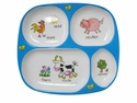 Baby Cie Farm Animal Melamine Child's TV Tray Dinner Plate