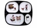 Baby Cie Pirate Melamine Child's TV Tray Dinner Plate