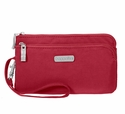 Baggallini Apple Double Zip Wristlet Wallet with RFID Shield
