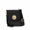 Baggallini Black Athens Crossbody Wallet with RFID Shield