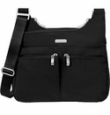 Baggallini Black Cross Over Crossbody Bag With Sand Lining