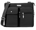 Baggallini Black Everything Crossbody Bag With Sand Lining