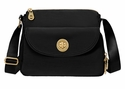 Baggallini Black Gold Provence Crossbody Bag