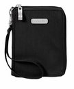 Baggallini Black Passport Case Wallet With Sand Lining