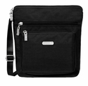 Baggallini Black Pocket Crossbody Bag with RFID Shield and Sand Lining