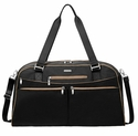 Baggallini Black Weekender Tote Bag With RFID Shield With Sand Lining