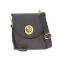 Baggallini Charcoal Athens Crossbody Wallet with RFID Shield