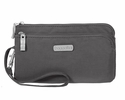 Baggallini Charcoal Double Zip Wristlet Wallet with RFID Shield