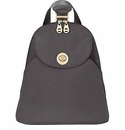Baggallini Charcoal Gold Cairo Backpack