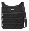 Baggallini Charcoal Link Big Zipper Crossbody Bag with RFID Shield