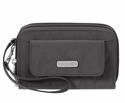 Baggallini Charcoal Wristlet Wallet with RFID Shield