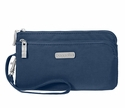 Baggallini Pacific Double Zip Wristlet Wallet with RFID Shield