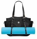 Baggallini Raven Have It All-Yoga Tote Crossbody Bag