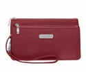 Baggallini Scarlet Double Zip Wristlet Wallet with RFID Shield