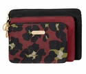 Baggallini Scarlet Multi Seoul 3 Piece Pouch Set Cosmetic Bag