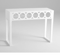 Balbo White Wood Console Table by Cyan Design