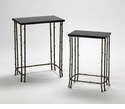 Bamboo Iron and Granite Nesting Tables by Cyan Design