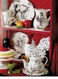 Barnyard Toile Collection - J. Willfred Ceramics