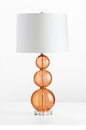 Beale Orange Spheres Glass Table Lamp by Cyan Design