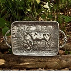 Beatriz Ball Western Horse Tray with Handles