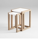 Becket Wood Nesting Tables by Cyan Design