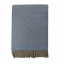 Birchwood Arturo Blue Dots Cashmere Throw