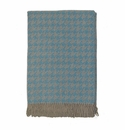 Birchwood Arturo Blue Houndstooth Merino Wool Throw