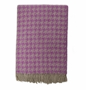 Birchwood Arturo Purple Houndstooth Merino Wool Throw