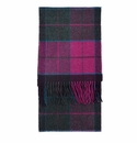 Birchwood Carrigan Purple Plaid Lambswool Scarf