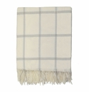 Birchwood Foxford Cream Windowpane Wool Throw
