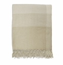Birchwood Foxford Large Bone/White Check Cashmere Throw