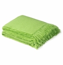 Birchwood Foxford Lime Green Mohair Throw
