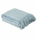 Birchwood Foxford Parma Blue Mohair Throw