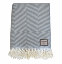 Birchwood Foxford Parma Herringbone Wool Throw