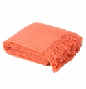 Birchwood Foxford Peach Mohair Throw