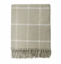 Birchwood Foxford Taupe Windowpane Wool Throw